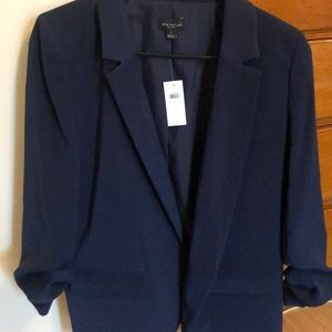 Navy Ann Taylor Factory scrounged sleeve blazer